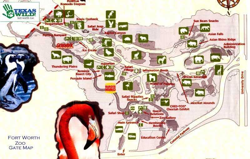 Map of the Fort Worth Zoo